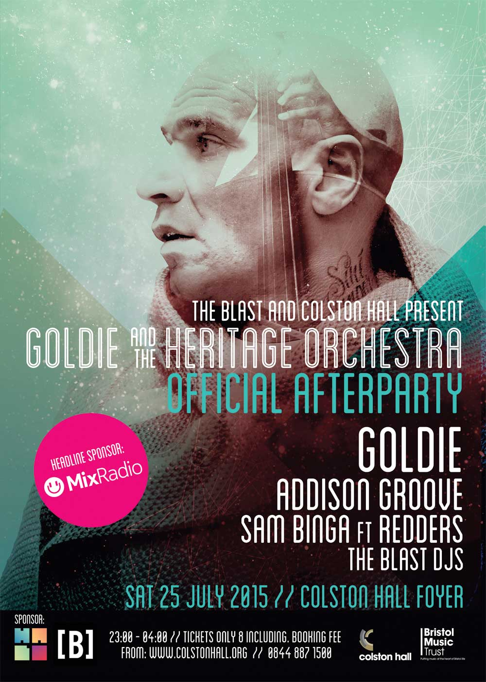 Goldie the heritage orchestra official afterparty for The heritage orchestra