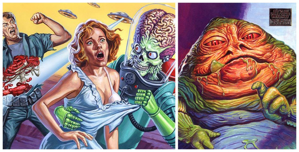 Ed Repka illustrations for Mars Attacks and Star Wars